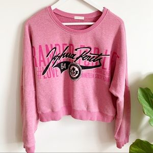Joshua Perets Pink Black Sweater S Graphics